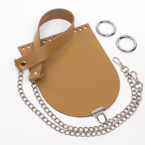"""Комплект для сумочки Орео """"Мёд"""". Ручка с цепочкой и замок """"Малыш"""""""