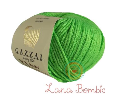Пряжа Gazzal Baby Cotton XL 3427 зелень
