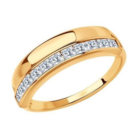 018567 - Кольцо из золота с фианитами
