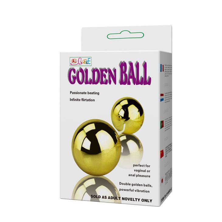 Золотистые шарики с вибрацией Goden Balls