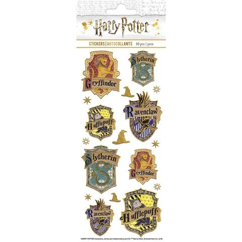 Стикеры Paper House Sticky Pix Faux Enamel Stickers - Harry Potter Crests