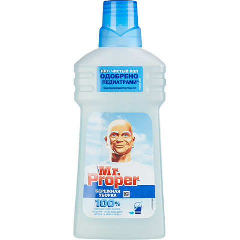 Средство для мытья пола Mr.Proper Бережная уборка 500 мл