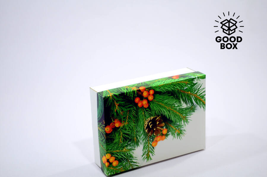 Новогодняя коробка хвойная купить в Казахстане