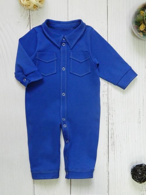 Комбинезон-рубашка, 1912, синий