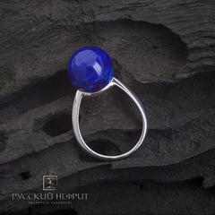 Кольцо с бадахшанским лазуритом. Perlus.
