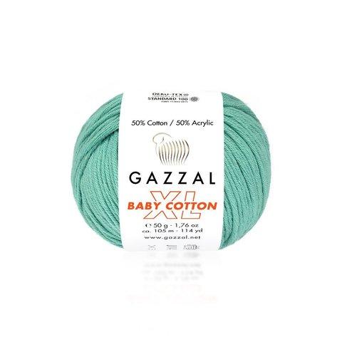 Пряжа Gazzal Baby Cotton XL 3426 изумруд