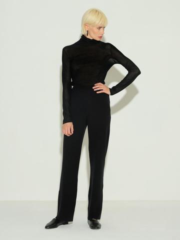 Женские брюки черного цвета из 100% шерсти - фото 2