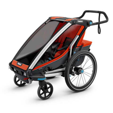 Картинка коляска Thule Chariot Cross2 темно-оранжевая  - 1