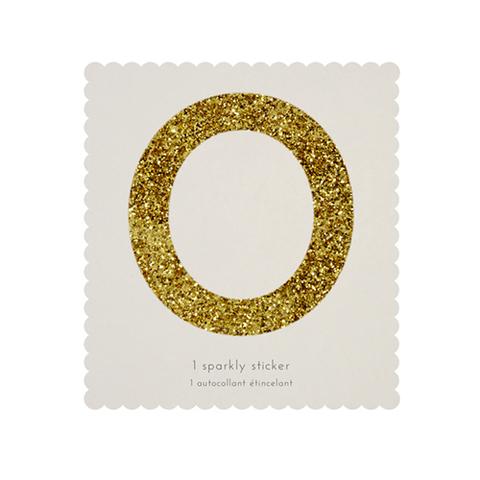Стикер 0, мерцающее золото