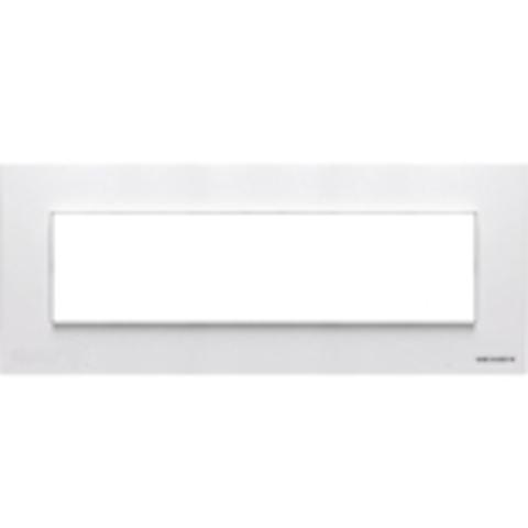 Рамка на 1 пост - 7 модулей, итальянский стандарт. Цвет Белый. ABB(АББ). Niessen Zenit(Ниссен Зенит). N2777 BL