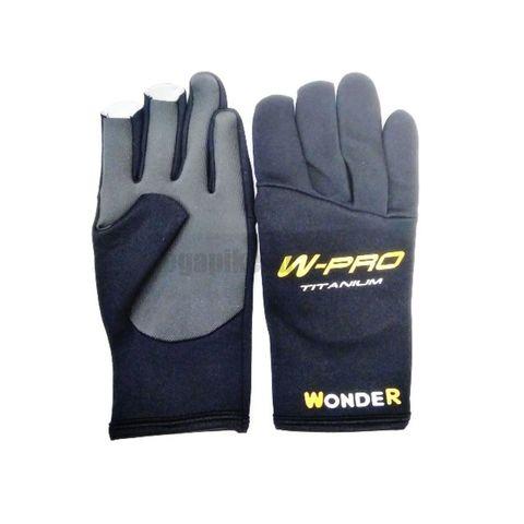 Перчатки Wonder черные без пальцев WG-FGL / размер М