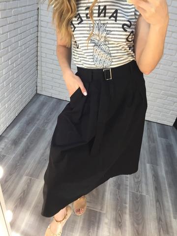 черная длинная юбка недорого