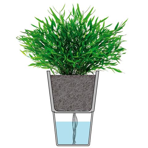 Горшок для растений с функцией самополива Ø11 см матовое стекло