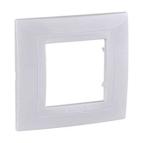 Рамка на 1 пост, моноблок. Цвет Белый. Schneider Electric Unica. MGU2.002.18M