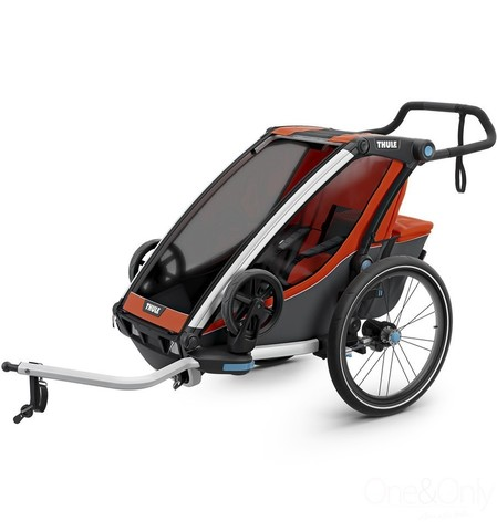 Картинка коляска Thule Chariot Cross2 темно-оранжевая  - 2