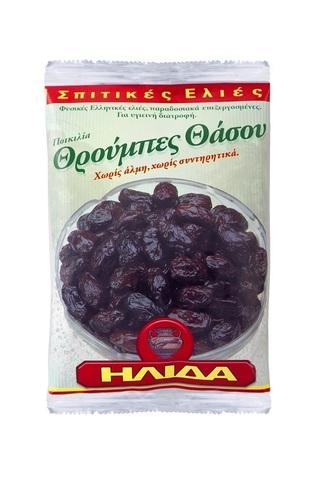 Вяленые оливки Трумба с косточкой в фольге Ilida 200 гр