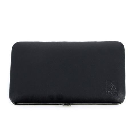 Маникюрный набор Dewal, 7 предметов, цвет черный, кожаный футляр