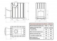 Топочный агрегат Калита  (Чугунный тоннель с чугунной дверью )