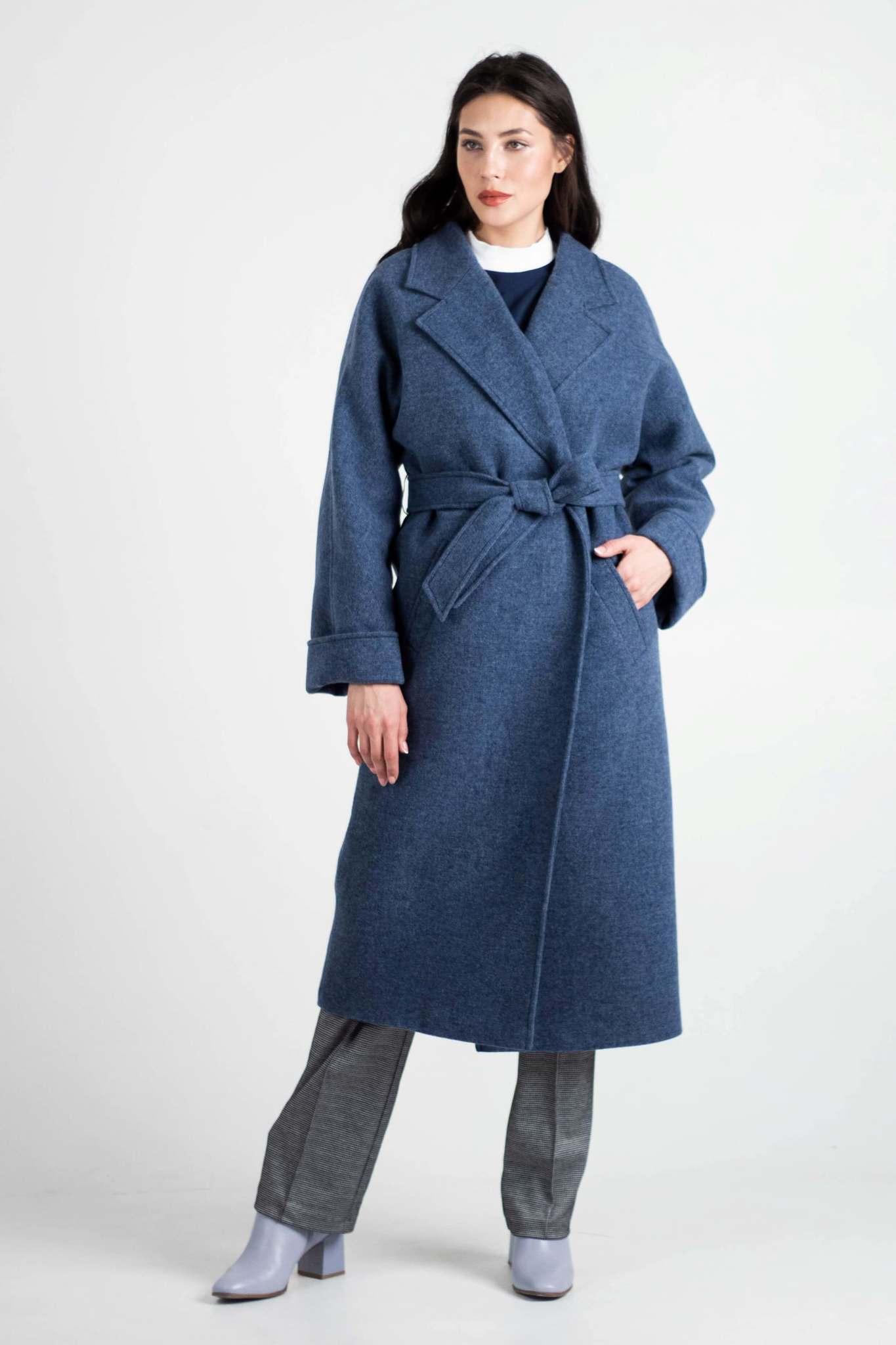Утепленное пальто-халат
