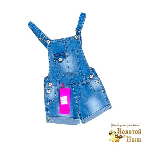 Комбинезон джинсовый девочке (4-9) 210328-D602