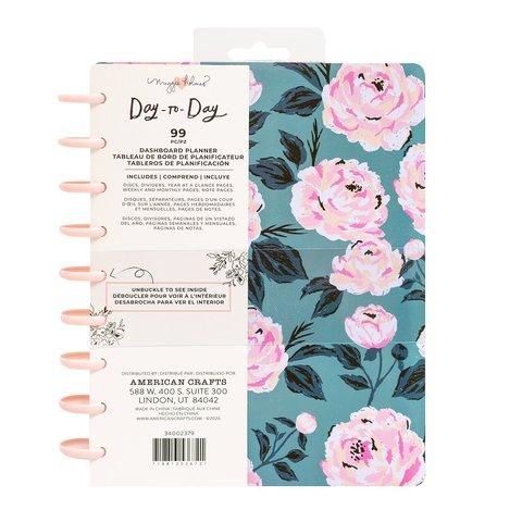 Планер на дисках, не датирован. Maggie Holmes Day-To-Day Undated Dashboard Planner 19х24 см-Blue & Pink Rose