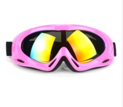 Горнолыжная маска №8 розовая