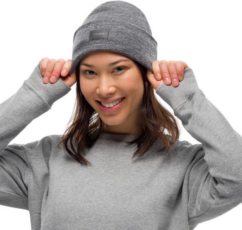 Шерстяная шапка с флисом Buff Hat Wool Fleece Grey фото 2
