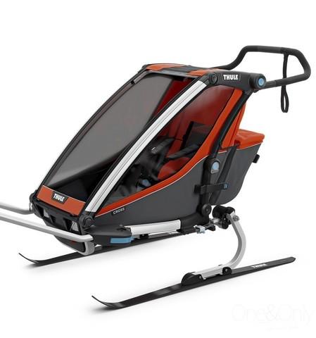 Картинка коляска Thule Chariot Cross2 темно-оранжевая  - 4