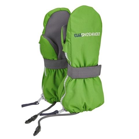 Варежки детские Didriksons Biggles zip - Kryptonite (зеленый)