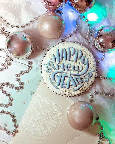 Трафарет Happy New Year