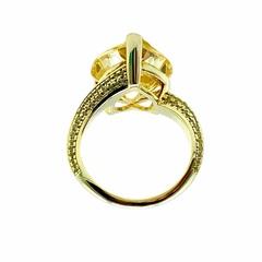 47949 - Кольцо из серебра в лимонной позолоте Heart с желтыми цирконом