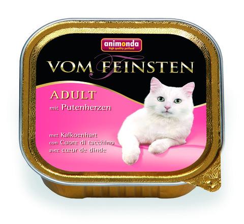Консервы Animonda Vom Feinsten Adult с сердцем индейки для взрослых кошек