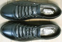 Стильные черные кроссовки кеды мужские на осень Novelty 5235 Black