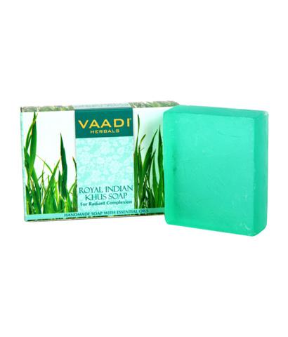 АКЦИЯ - 30%!!! Аюрведическое мыло Ветивер Королева Индии VAADI, 75 г.