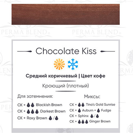 """Chocolate Kiss"" пигмент для бровей  Permablend"
