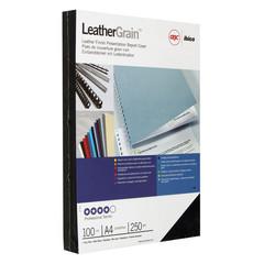 Обложки для переплета картонные GBC А4 250 г/кв.м темно-синие текстура кожа (100 штук в упаковке)