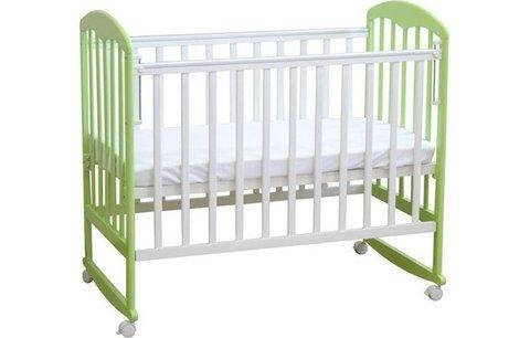 Кровать детская Фея 323 белый-мята