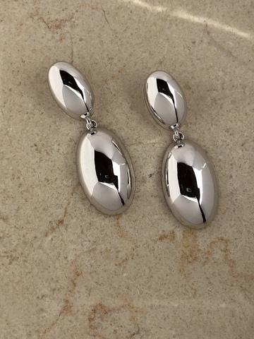 Серьги Росана, серебряный цвет