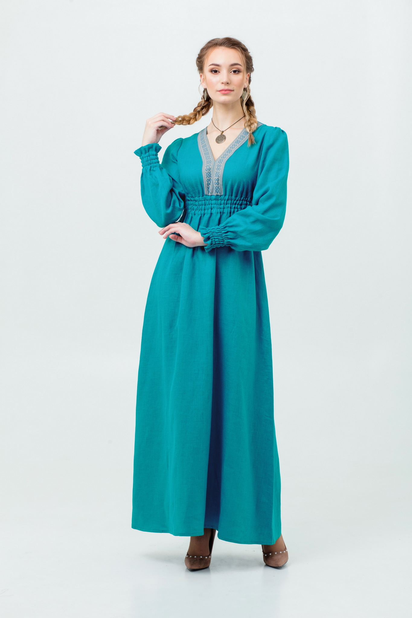 Платье русской девушки Лунный свет