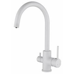 Смеситель KAISER Merkur 26744-4 для кухни под фильтр (белый)