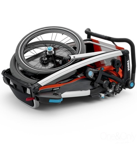 Картинка коляска Thule Chariot Cross2 темно-оранжевая  - 6