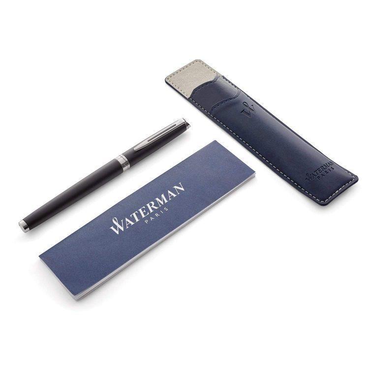 Набор подарочный Waterman Hemisphere - Matte Black CT, перьевая ручка, M + чехол