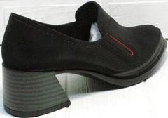 Кожаные женские туфли на каблуке 6 см осень весна H&G BEM 167 10B-Black.