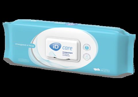 ID Care. Cалфетки влажные гигиенические, 1уп/64 шт