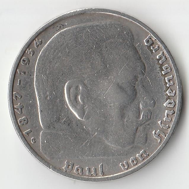 1938 год Германия монета 2 марки