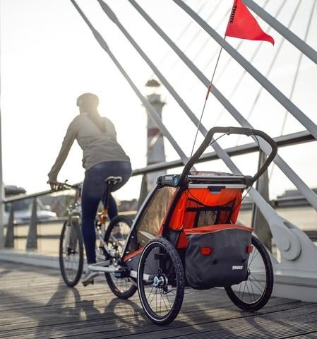 Картинка коляска Thule Chariot Cross2 темно-оранжевая  - 7
