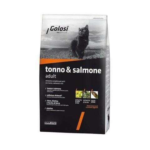 Сухой корм GOLOSI TONNO & SALMONE ADULT для взрослых кошек с тунцом, лососем и рисом, 20 кг.