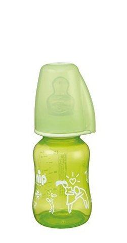 Бутылочка пластиковая 'Trendy' 125 мл с соской силикон NIP