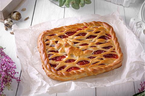 Пирог с клюквенным джемом