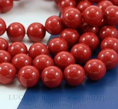 5810 Хрустальный жемчуг Сваровски Crystal Red Coral круглый 6 мм, 5 штук